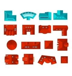 Top view rodesign set vector