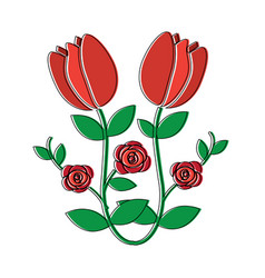 tulip flower icon image vector image