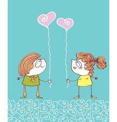 Valentins day postcard vector image vector image