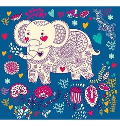 Various elephants vector