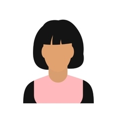 Woman avatar symbol vector