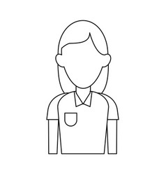 woman faceless profile vector image