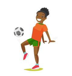 young black woman playing football vector image