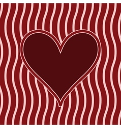 frame with heart vector image