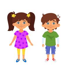 kindergarten kids characters vector image vector image