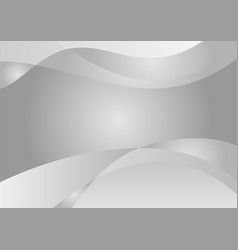 white and gray wave abstract background with copy vector image vector image