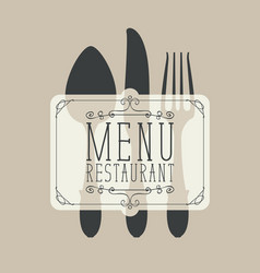 banner for a restaurant menu with cutlery vector image