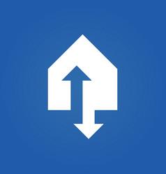 triangle arrow up down logo vector image