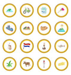 Netherlands icon circle vector