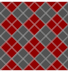 Red gray white chess board background vector