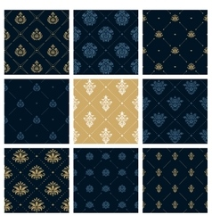 Royal patterns or victorian christmas background vector