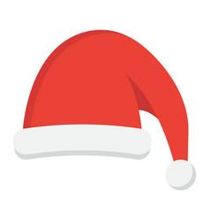 santa hat flat icon new year and christmas xmas vector image vector image