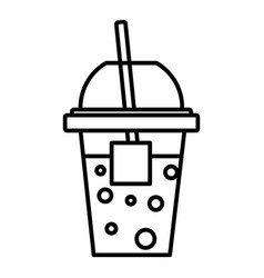 soda icon outline line style vector image