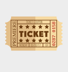 cinema ticket entrance icon vector image vector image