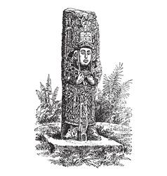 Copan Monolith vintage engraving vector image vector image