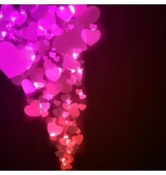 Flying hearts Valentines day or Wedding EPS 8 vector image