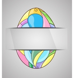 Greeting card with colorful easter egg vector image vector image