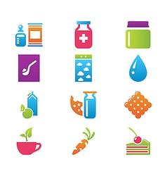 icon set gastronomy vector image vector image