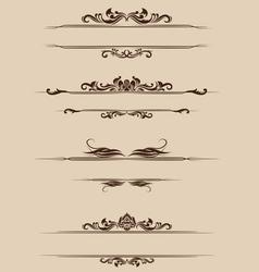 Ornament border set vector