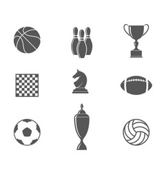 sport set vector image