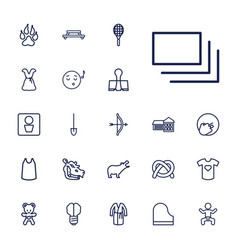 22 art icons vector