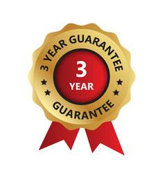 3 year guarantee badge guarantee certificate vector