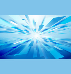 Abstract blue rectangles light motion technology vector