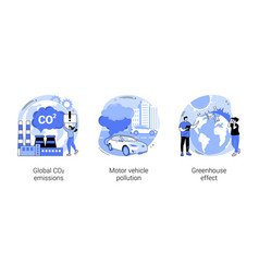 air pollution abstract concept vector image