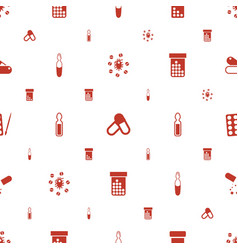 Antibiotic icons pattern seamless white background vector