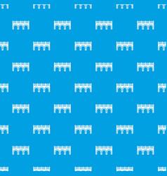 arch bridge pattern seamless blue vector image