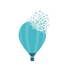 Ballon with effect destruction dispersion vector
