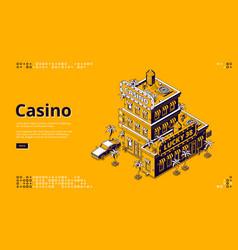 banner casino gambling games vector image