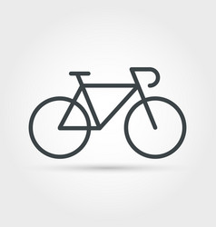 bike minimal outline icon vector image
