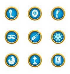 Biohazard icons set flat style vector