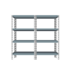 blank storage shelf vector image