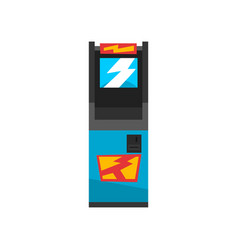 blue electronic slot game machine vector image