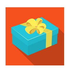 blue gift for a holiday with an yellow bowgifts vector image