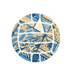 boho abstract waterpolo vector image