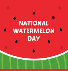 Card for national watermelon vector