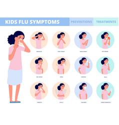child flu prevention cold symptoms sickness vector image