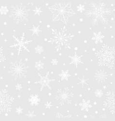 Christmas seamless pattern snowflakes vector