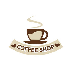 Coffee shop cafeteria or cafe cup steam vector
