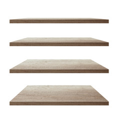 collection of wood shelf table vector image