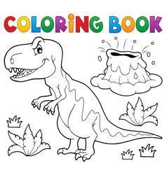 coloring book dinosaur topic 1 vector image