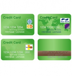 design of a credit card vector image