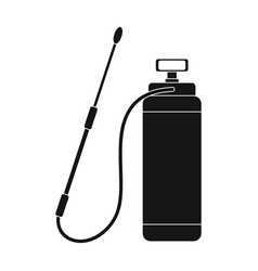 Dispenser for disinfection single icon in black vector