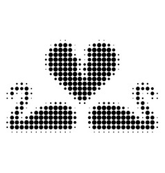 divorce swans halftone dotted icon vector image