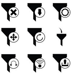 Filter icon set vector