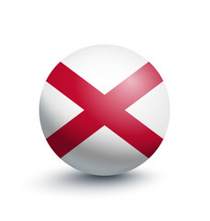 flag of northern ireland in the form of a ball vector image