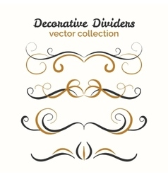 Flourish elements Hand drawn dividers set vector